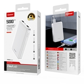 Batterie externe POWER BANK 5000 mAh - Blanc